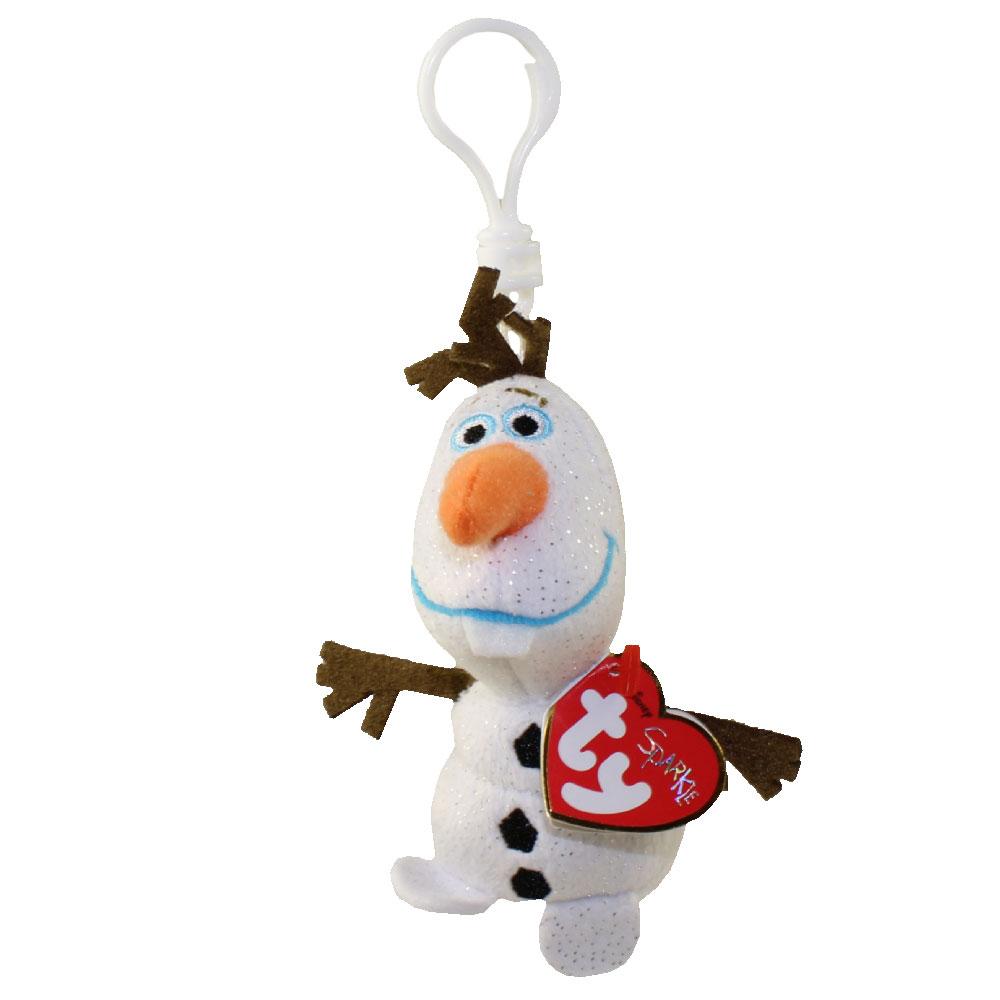 TY Beanie Baby - OLAF Snowman (Disney Frozen) (Plastic Key Clip - 5 inch)   BBToyStore.com - Toys fe629aa79b9