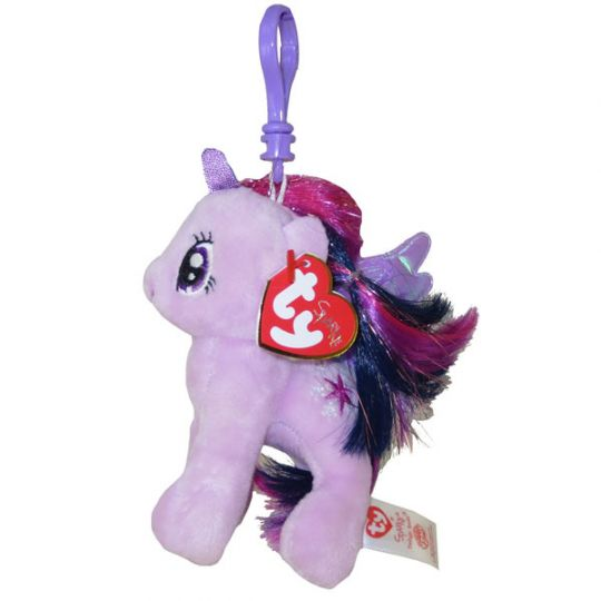 5ea530c4225 TY Beanie Baby - PRINCESS TWILIGHT with Glitter Hairs (My Little Pony) (Plastic  Key Clip - 5 inch)  BBToyStore.com - Toys