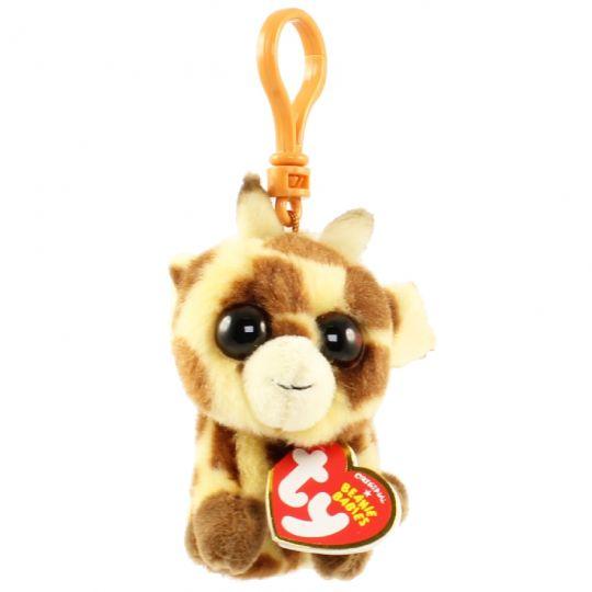 TY Beanie Baby - PEACHES the Giraffe (Plastic Key Clip) (4 inch)   BBToyStore.com - Toys 254177064e7