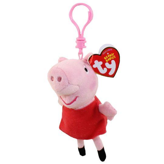 a182fa5d2d2 TY Beanie Baby - PEPPA the Pig ( Plastic Key Clip - Peppa Pig ) (4 inch)   BBToyStore.com - Toys