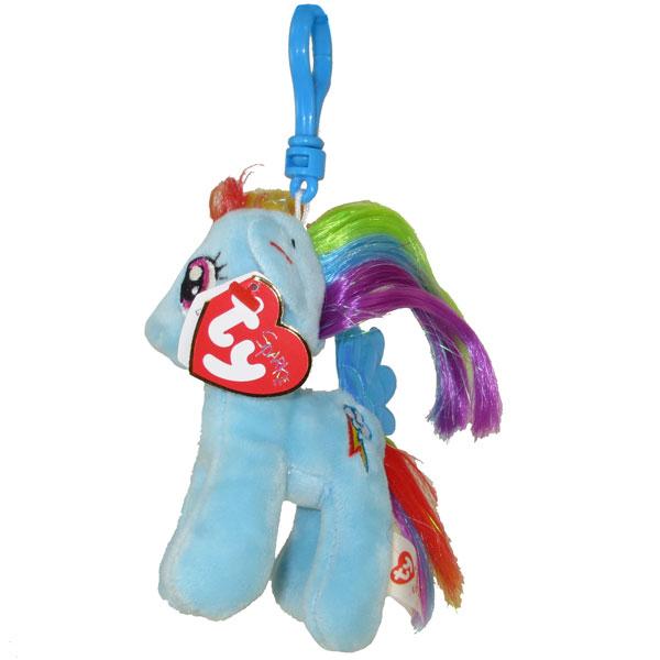 Ty Beanie Baby Rainbow Dash With Glitter Hairs My