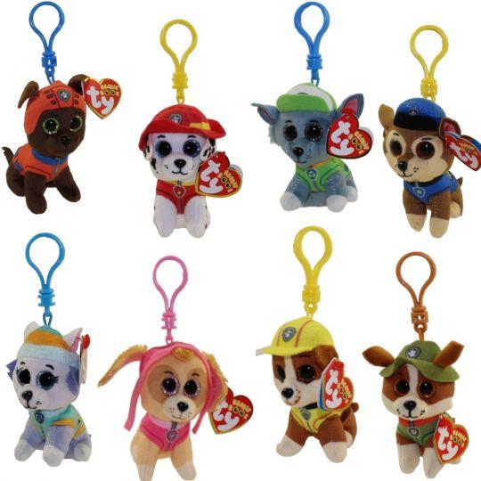 TY Beanie Babies - Paw Patrol - SET of 8 ( Plastic Key Clips ) (4 inch)   BBToyStore.com - Toys 18d25af33d7