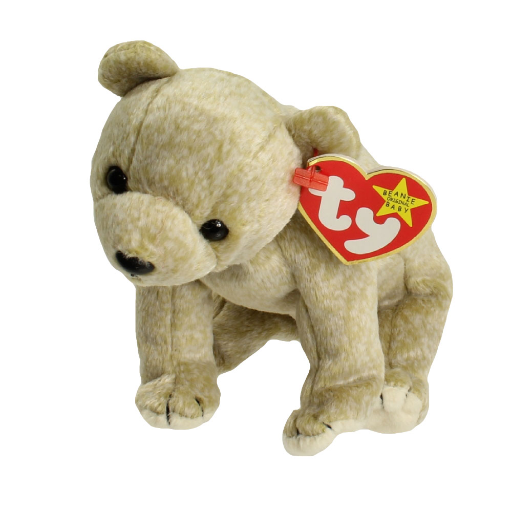 TY Beanie Baby - ALMOND the Beige Bear (7 inch)  BBToyStore.com - Toys 254c520f481
