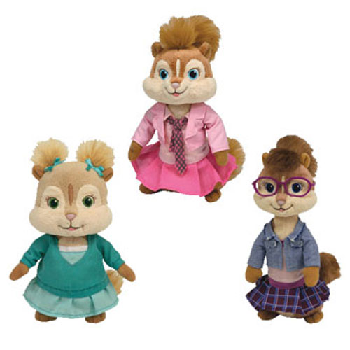TY Beanie Babies - ALVIN   THE CHIPMUNKS (Set of 3 Chipettes Brittany  Eleanor   Jeanette)  BBToyStore.com - Toys 0963661001a9