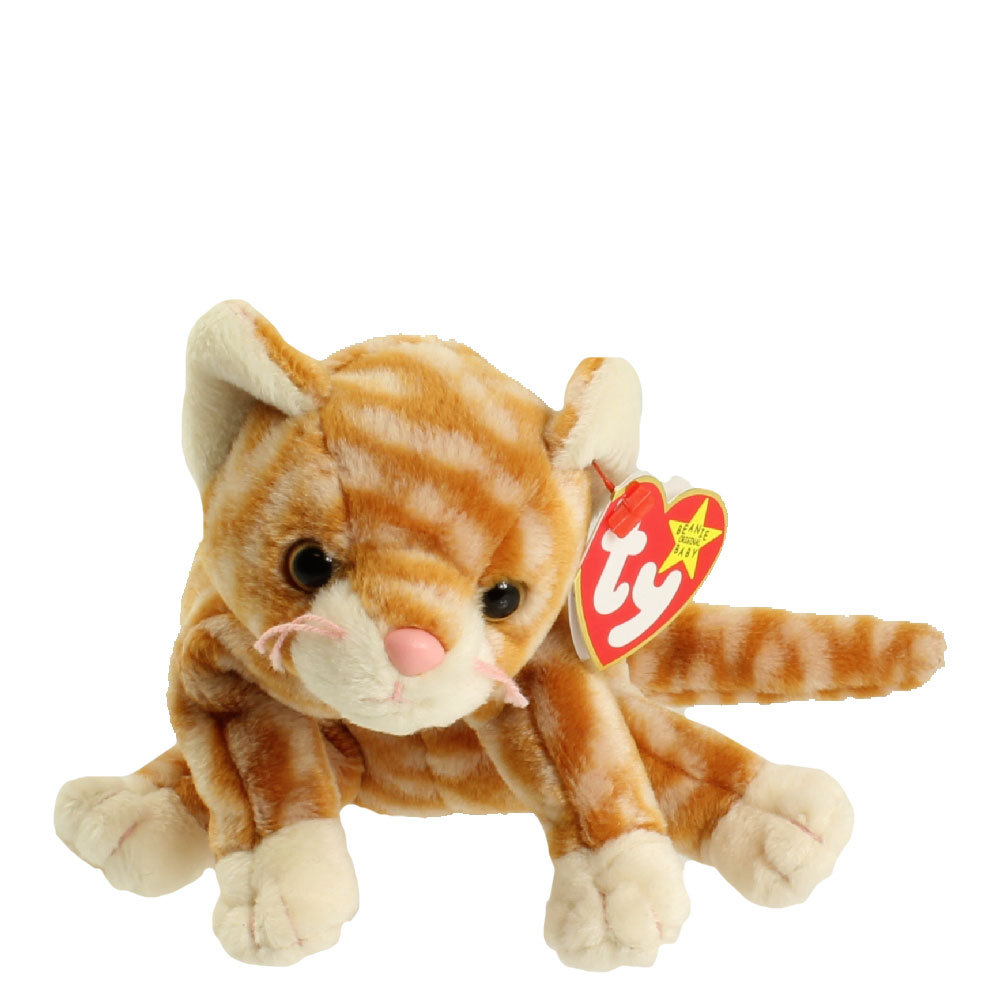 Ty Beanie Baby Amber The Gold Tabby Cat 7 5 Inch Bbtoystore Com