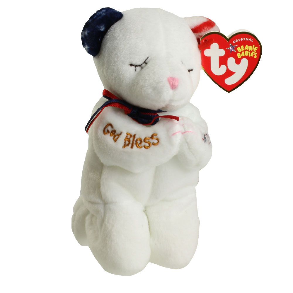 Ty Beanie Baby American Blessing The Praying Bear 6 5 Inch