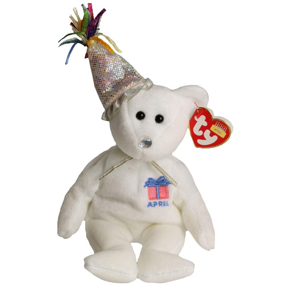 8 9 Toys For Birthdays : Ty beanie baby april the teddy birthday bear w hat