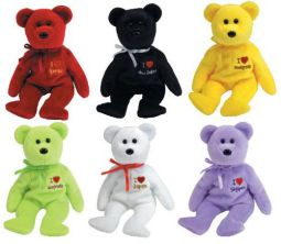 bb96037668a TY Beanie Babies - ASIA PACIFIC 2005 Exclusive Bears (Set of 6 - I Love