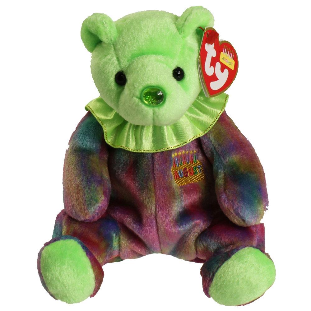 TY Beanie Baby - AUGUST the Birthday Bear (7.5 inch) 12cea9c0bd75
