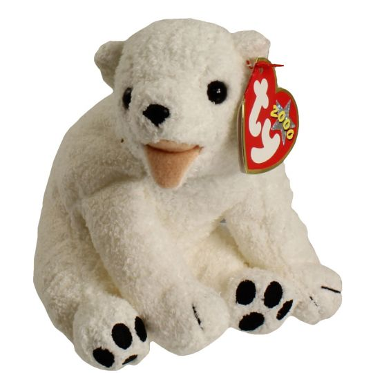 9e33e83960b TY Beanie Baby - AURORA the Polar Bear (6.5 inch)  BBToyStore.com - Toys
