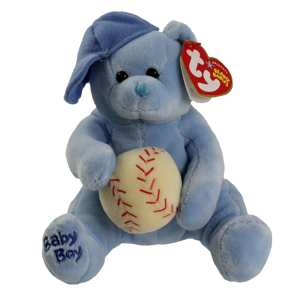 Ty Beanie Baby Baby Boy The Bear Baseball Hat Ball 7 Inch