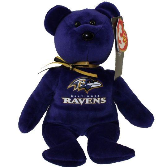 TY Beanie Baby - NFL Football Bear - BALTIMORE RAVENS (8.5 inch)   BBToyStore.com - Toys 0d53bca48a0c