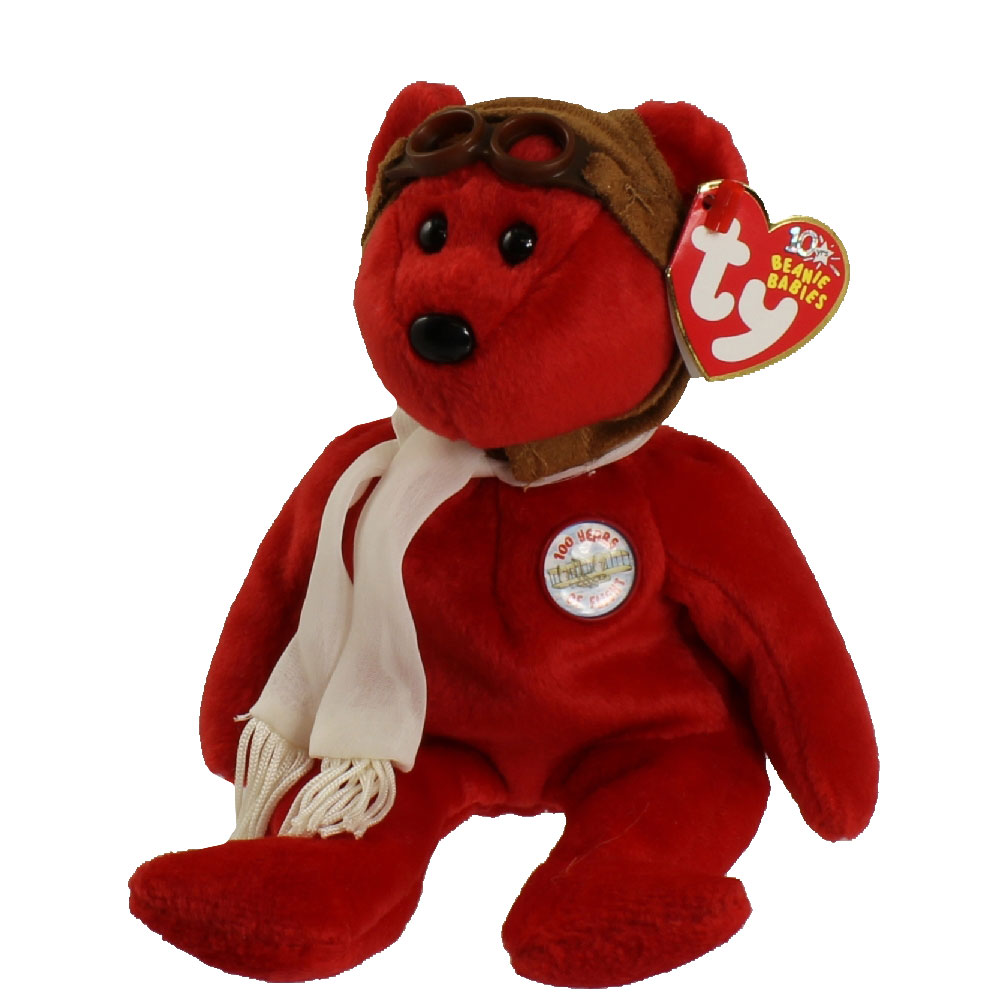 TY Beanie Baby - BEARON the Bear (Red Version) (8.5 inch)  BBToyStore.com -  Toys 576a59f6edc