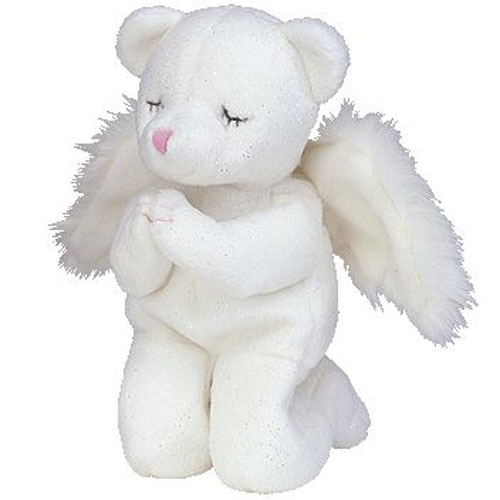TY Beanie Baby - BLESSED the Angel Bear (6 inch)  BBToyStore.com - Toys ddde6930df8