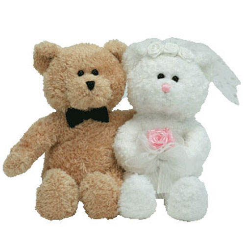 a8748db0eb4 TY Beanie Baby - BLISSFUL the Wedding Bears (set of 2) ...