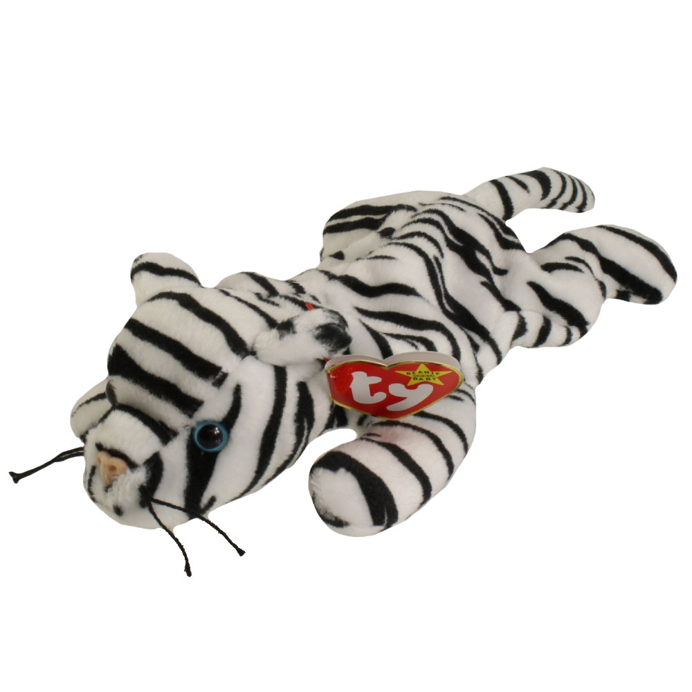 Ty Beanie Baby Blizzard The White Tiger 9 Inch