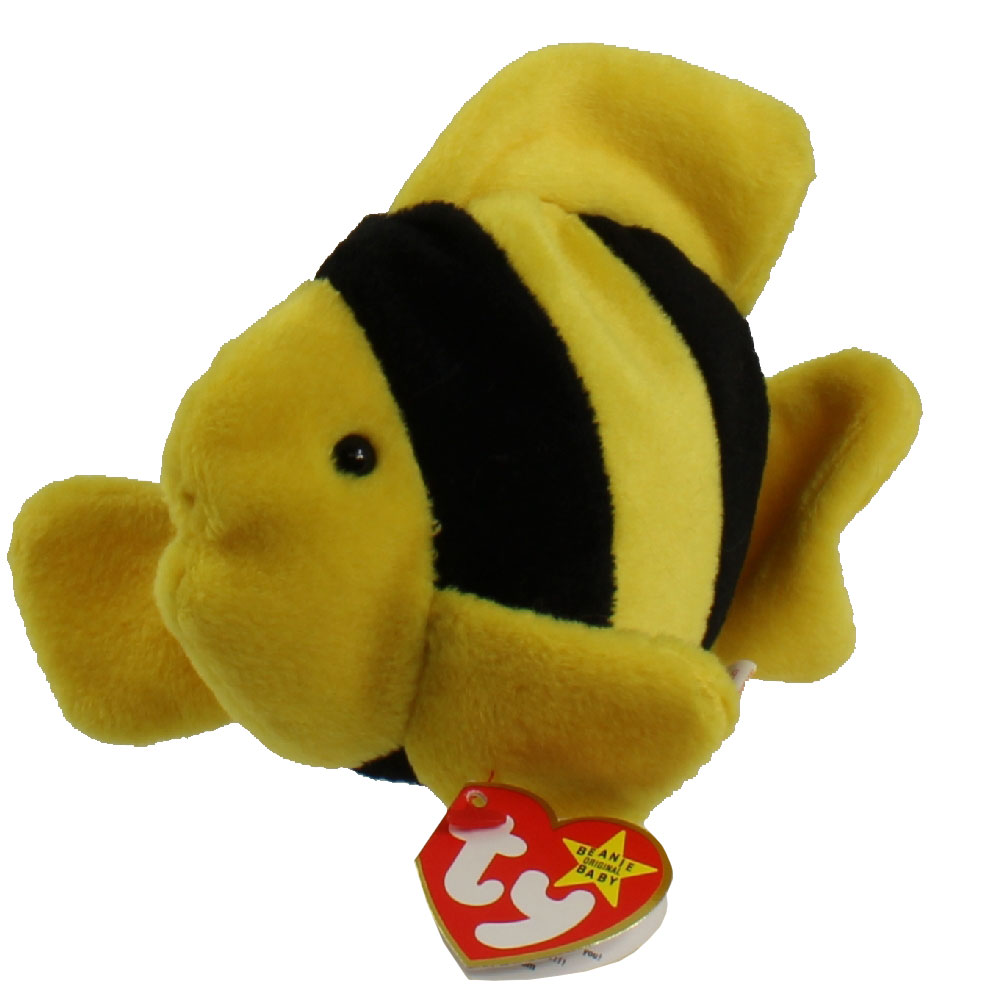 Ty beanie baby bubbles the fish 4th gen hang tag 6 for Fish beanie baby
