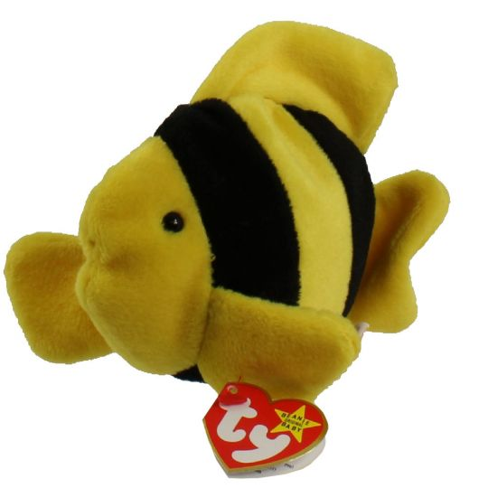 badae7a3253 TY Beanie Baby - BUBBLES the fish (4th Gen hang tag) (6 inch)   BBToyStore.com - Toys