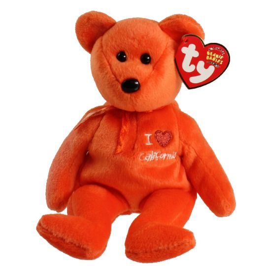 96962e777c2 TY Beanie Baby - CALIFORNIA the Bear (I Love California - State Exclusive)  (8.5 inch)  BBToyStore.com - Toys