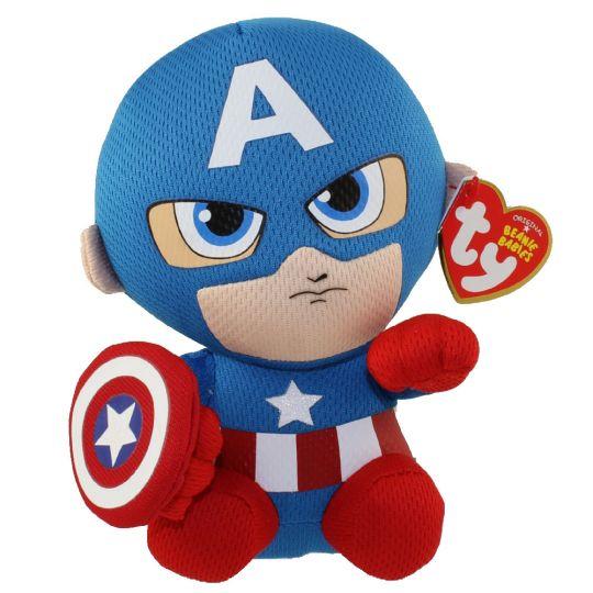 9dc901faa2c TY Beanie Baby - CAPTAIN AMERICA (Marvel)  BBToyStore.com - Toys ...