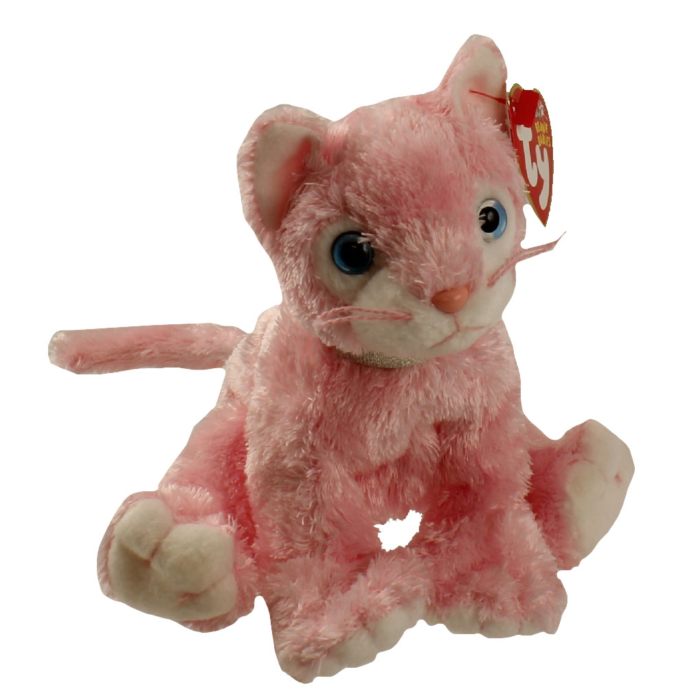 Ty Beanie Baby Carnation The Pink Cat 6 Inch