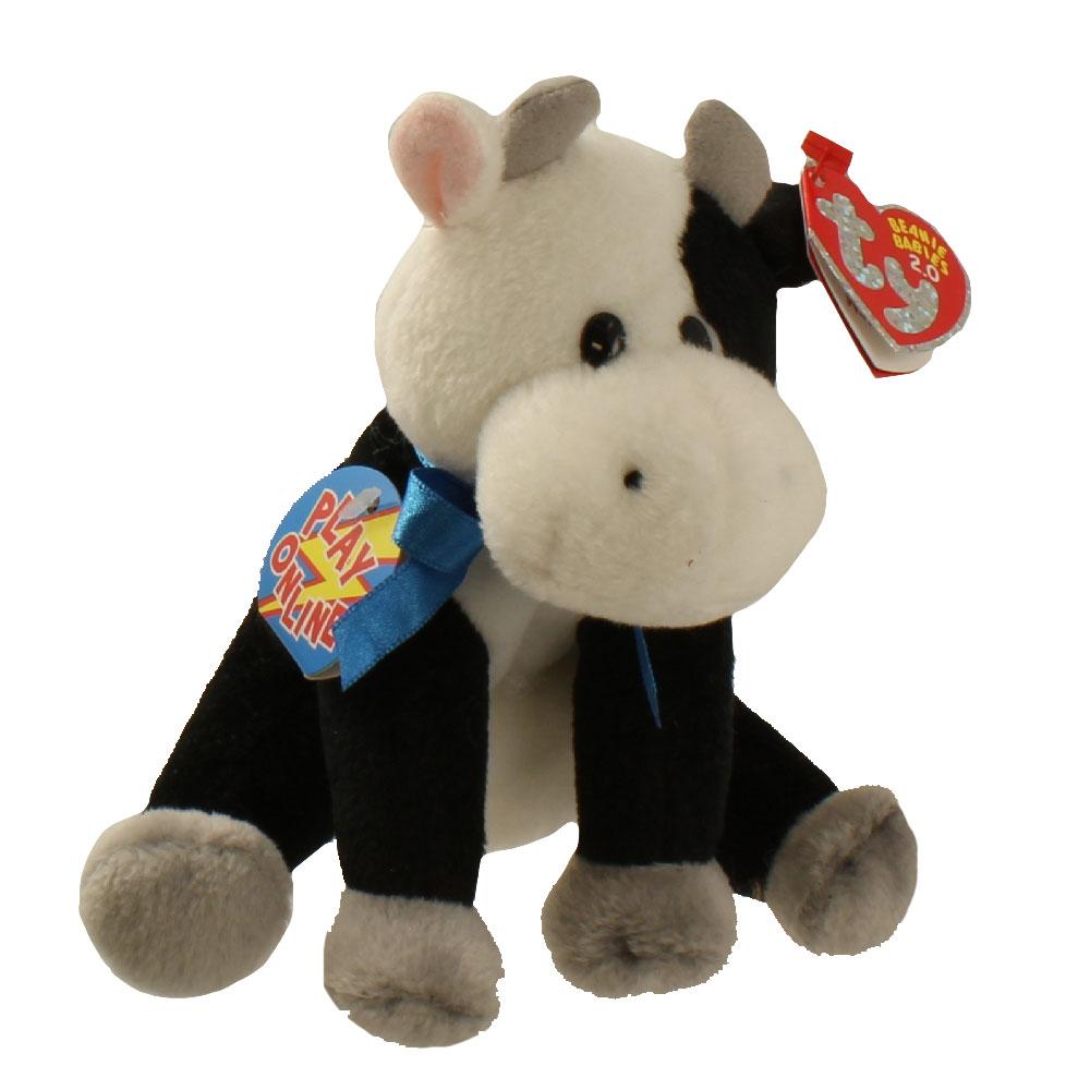 TY Beanie Baby 2.0 - CHARLIE the Cow (6 inch)  BBToyStore.com - Toys ... 71fcfa6c01d