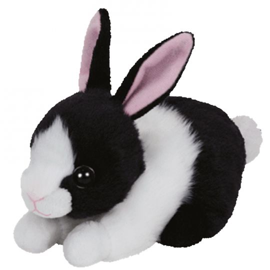 Ty Beanie Baby Checkers The Black White Bunny 6 Inch