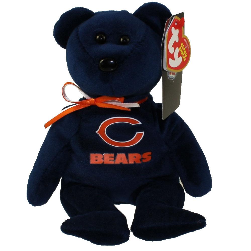 2e9f806d7ee TY Beanie Baby - NFL Football Bear - CHICAGO BEARS (8.5 inch)   BBToyStore.com - Toys