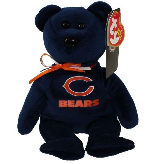 TY Beanie Baby NFL Football Bear CHICAGO BEARS (8.5 inch