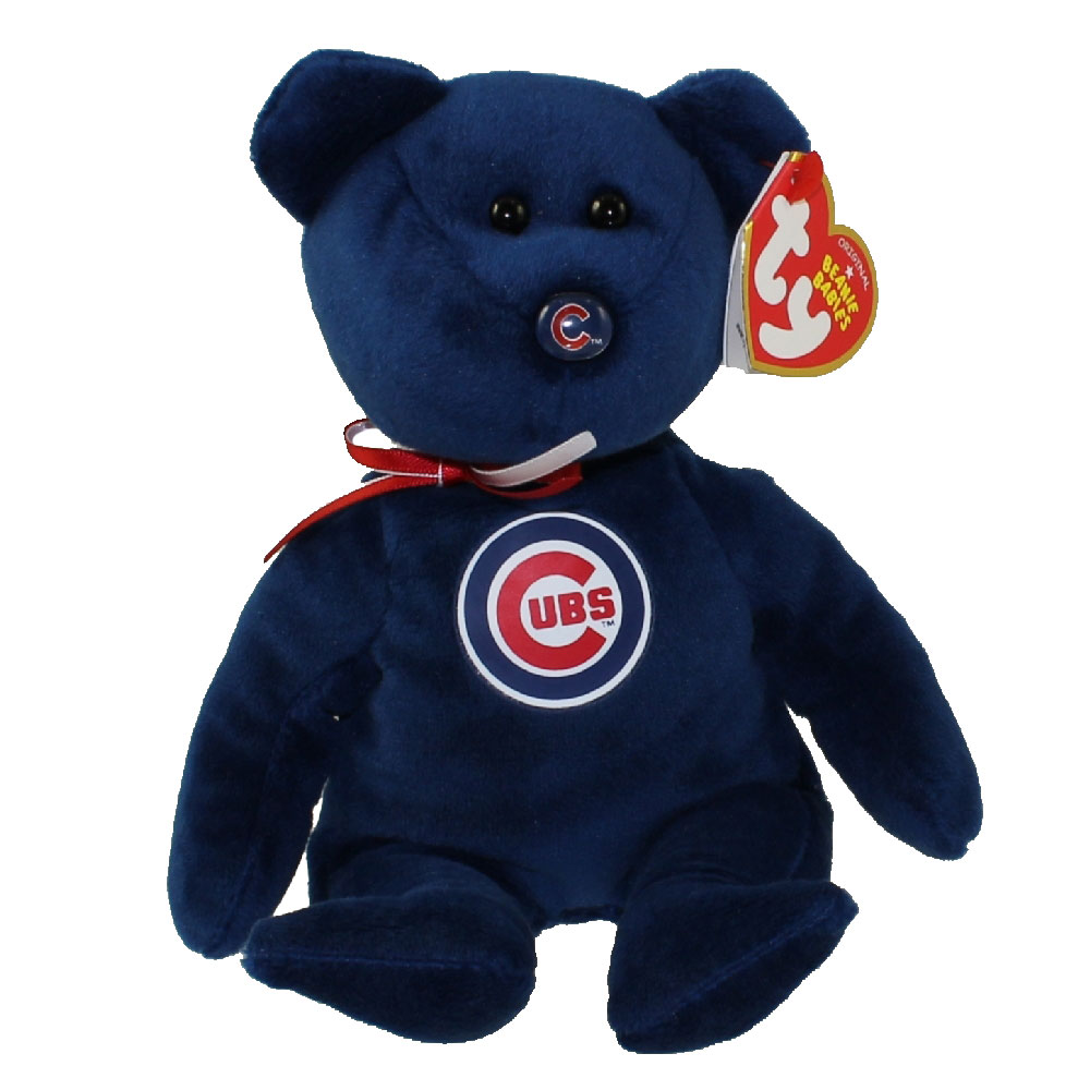 TY Beanie Baby MLB Baseball Bear CHICAGO CUBS 85