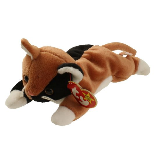 ee7ad37a72a TY Beanie Baby - CHIP the Calico Cat (8 inch)  BBToyStore.com - Toys ...