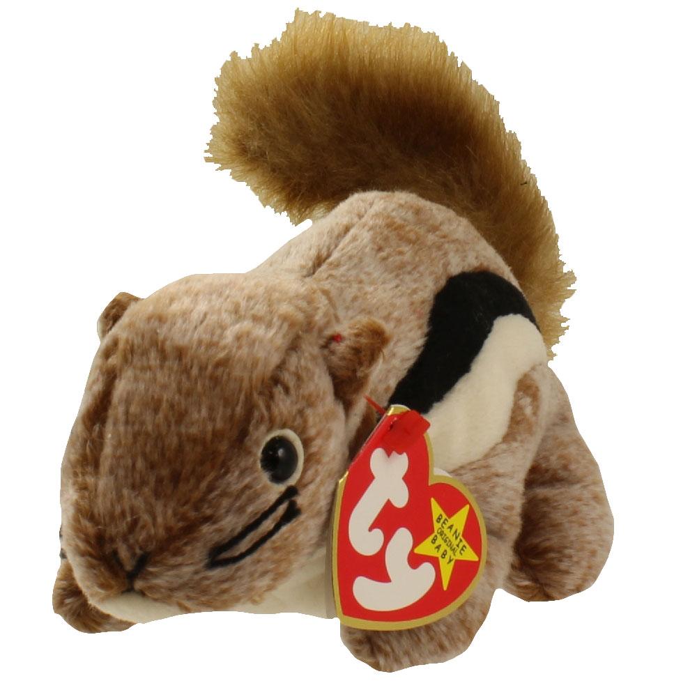 ty beanie baby - chipper the chipmunk  6 5 inch   bbtoystore com