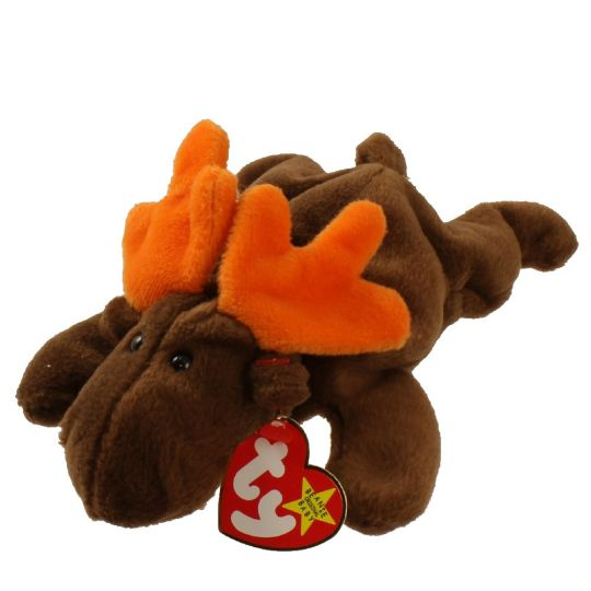 Ty Beanie Baby Chocolate The Moose 9 Inch Bbtoystore Com Toys