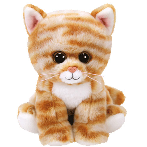 Ty Beanie Baby Cleo The Orange Tabby Cat 6 Inch Bbtoystore Com