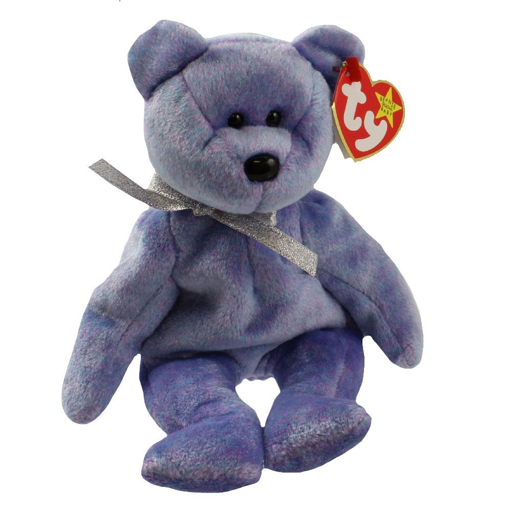 Ty Beanie Baby Clubby 2 The Platinum Bear 8 5 Inch