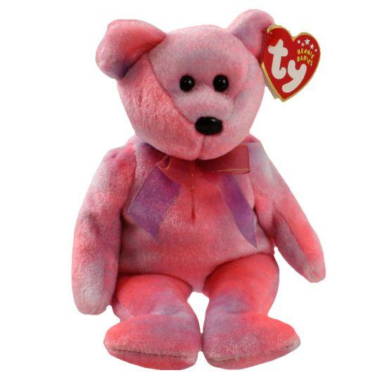 80442731f67 TY Beanie Baby - CLUBBY 5 the Pink Bear (8.5 inch)  BBToyStore.com - Toys