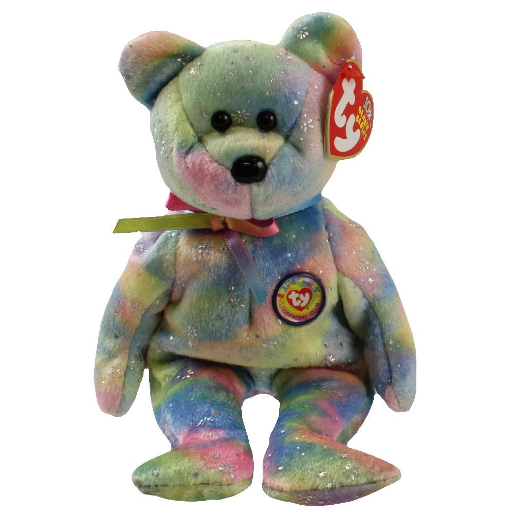Ty Beanie Baby Clubby 6 The Bear Rainbow Version 8 5