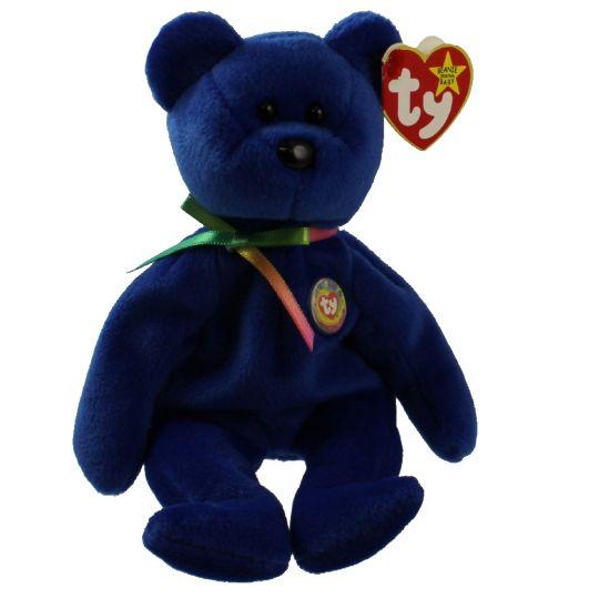 dd6bb5f9132 TY Beanie Baby - CLUBBY 1 the Dark Blue Bear (8.5 inch)  BBToyStore.com -  Toys