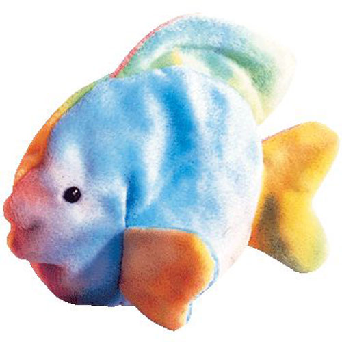 ty beanie baby coral the ty dyed fish 4th gen hang tag