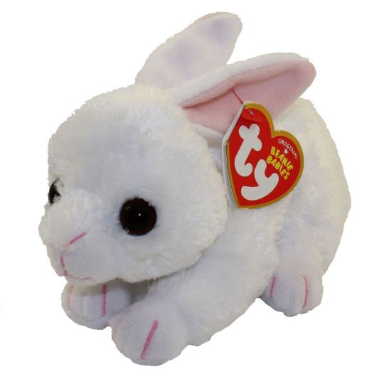 d0df646c13b TY Beanie Baby - COTTON the White Bunny (6 inch)  BBToyStore.com - Toys