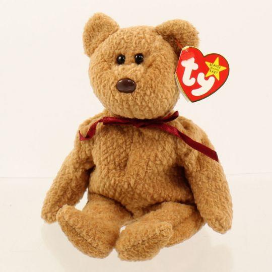 TY Beanie Baby - CURLY the BEAR (5th Gen  Origiinal  Spelling Error)  MWMT s  BBToyStore.com - Toys 70bec71359a