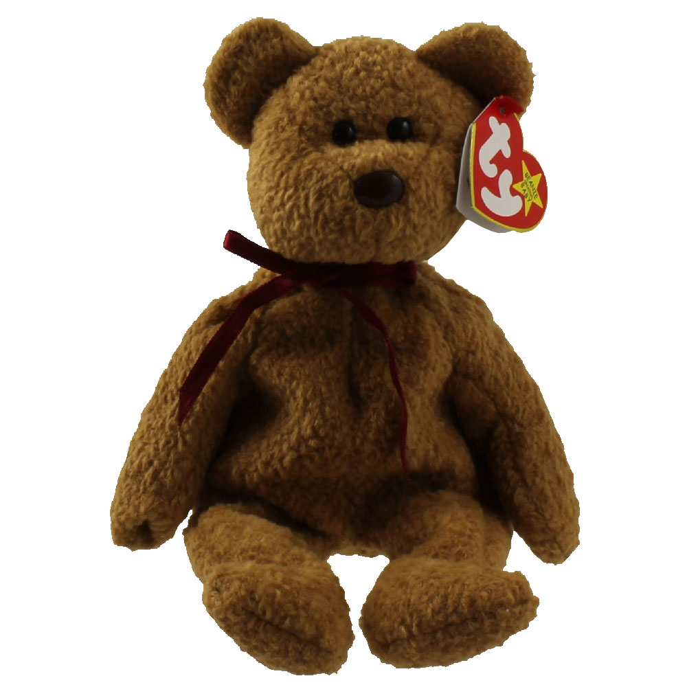 Ty beanie baby curly the brown nappy bear 9 inch for Bb shop