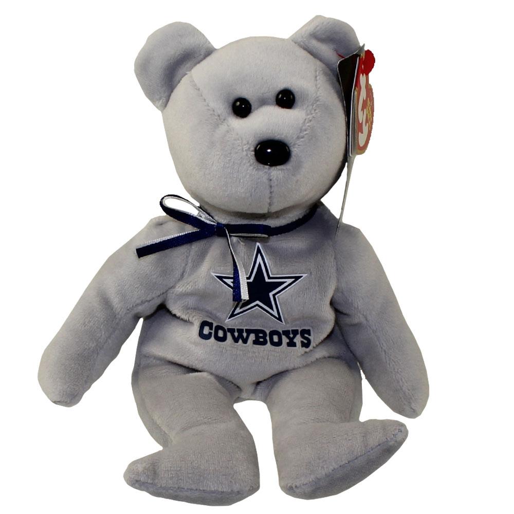 Ty Beanie Baby Nfl Football Bear Dallas Cowboys 8 5