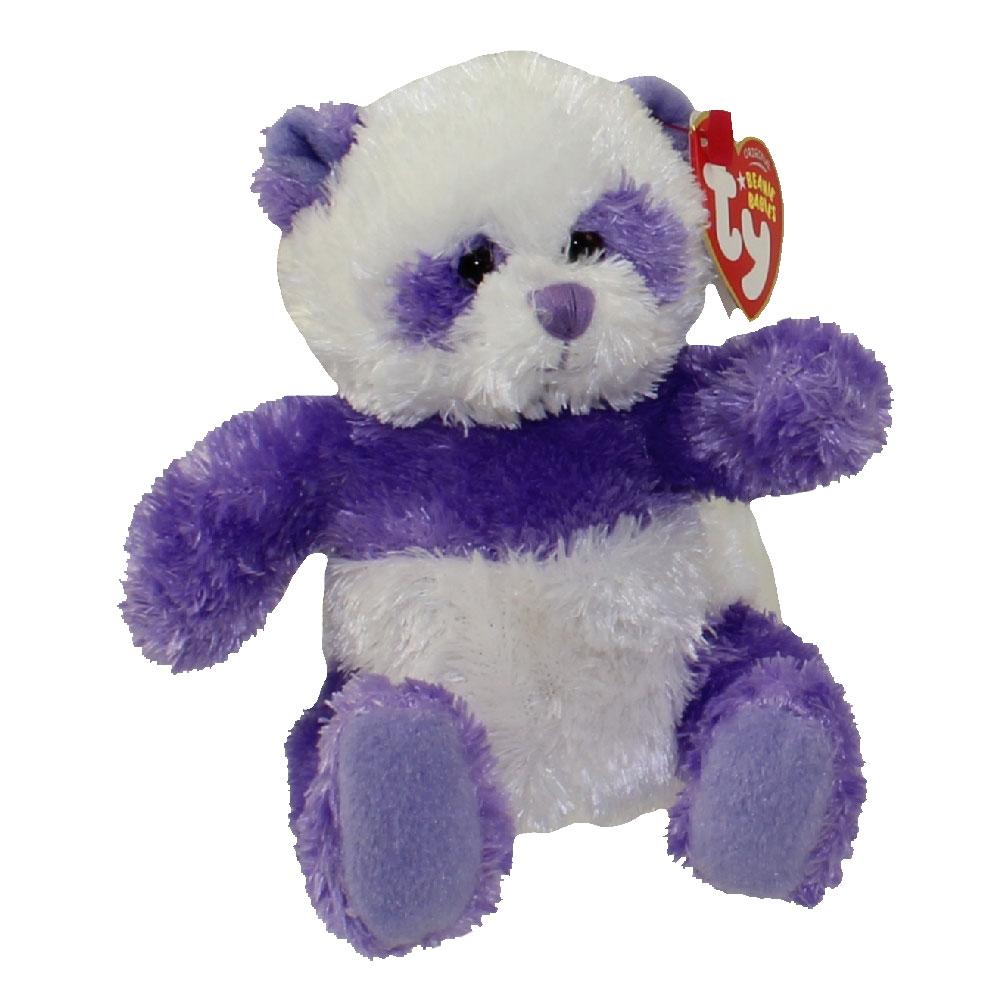Ty Beanie Baby Dancy The Purple Panda Bear Internet