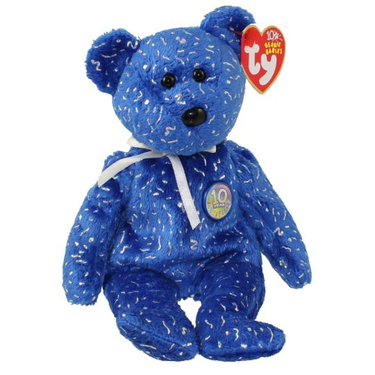 1d3a323b2c3e01 TY Beanie Baby - DECADE the Bear (Royal Blue Version) (8.5 inch):  BBToyStore.com - Toys, Plush, Trading Cards, Action Figures & Games online  retail store ...