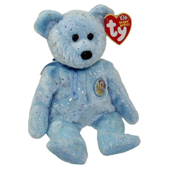 d4aad8b6163a49 TY Beanie Baby - DECADE the Bear (Light Blue Version) (8.5 inch):  BBToyStore.com - Toys, Plush, Trading Cards, Action Figures & Games online  retail store ...