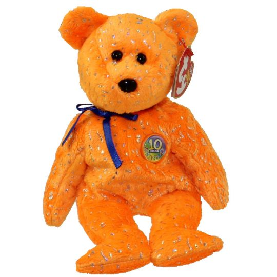 19c52340a3aeee TY Beanie Baby - DECADE the Bear (Orange Version) (8.5 inch):  BBToyStore.com - Toys, Plush, Trading Cards, Action Figures & Games online  retail store shop ...