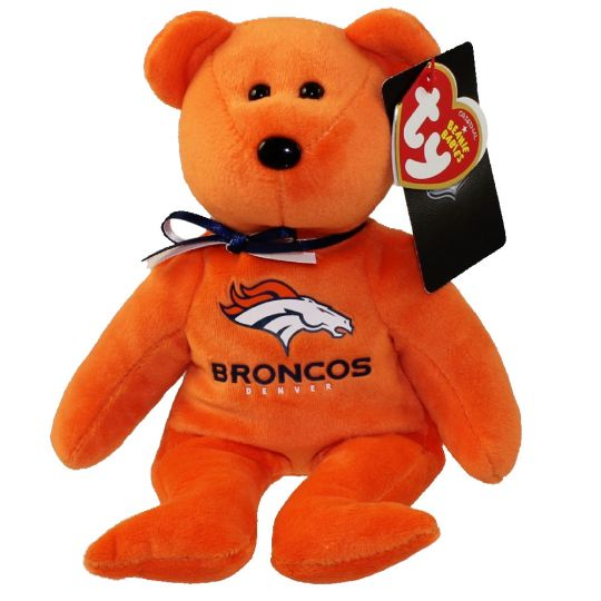 Ty Beanie Baby Nfl Football Bear Denver Broncos 8 5 Inch