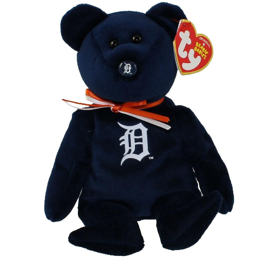 Ty Beanie Baby Mlb Baseball Bear Detroit Tigers 8 5