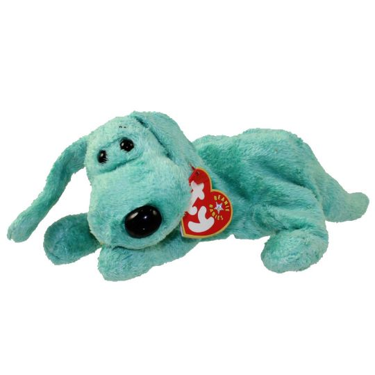 TY Beanie Baby - DIDDLEY the Green Dog (6.5 inch)  BBToyStore.com - Toys 6d9a1965abb